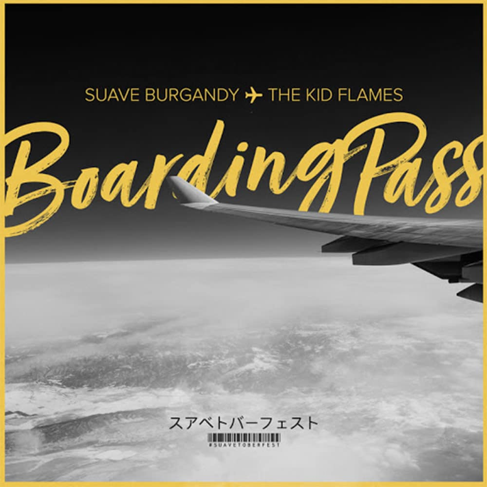 Suave Burgandy #BoardingPass cover art by The Kid Flames