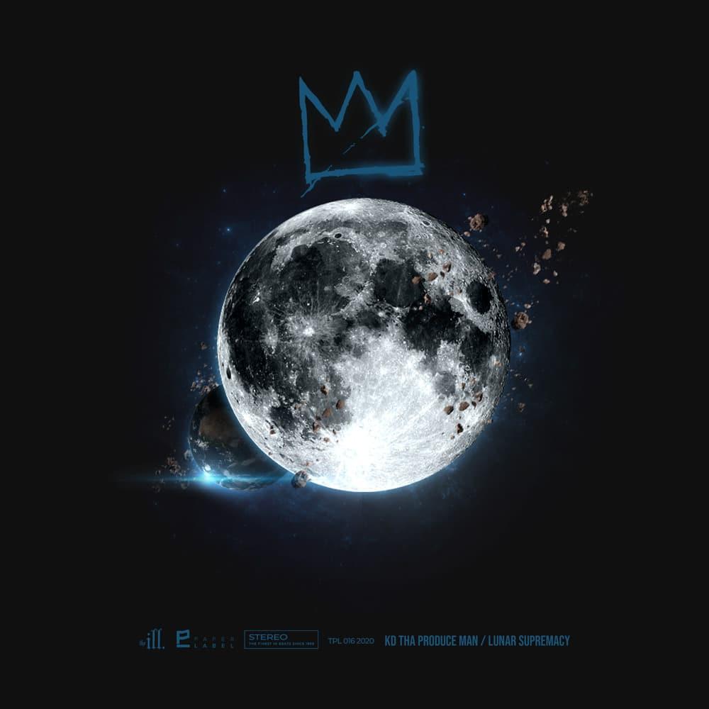 K.D. Tha Produce Man Lunar Supremacy album cover. Artwork by The Kid Flames